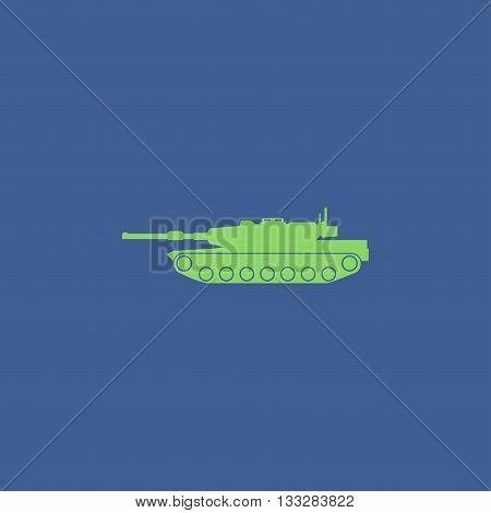 Tank Icon. Vector Concept Illustration For Design