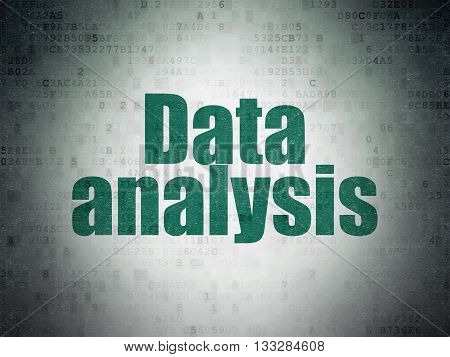 Information concept: Painted green word Data Analysis on Digital Data Paper background