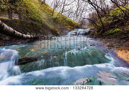 Oyunumagawa Hot Spring Water Stream, Noboribetsu