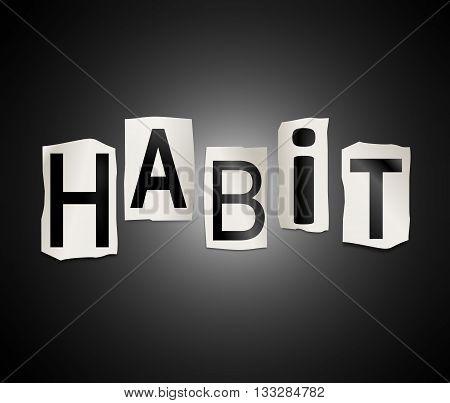 Habit Word Concept.