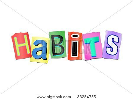 Habits Word Concept.
