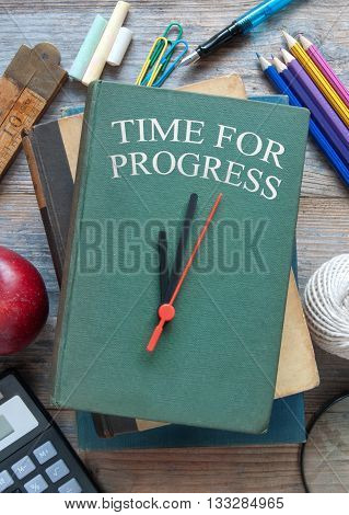 Time for progress clock book with accessories