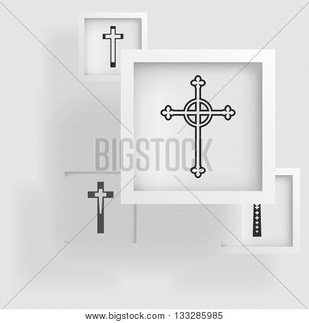 geometric shape of cross, ancient sacred symbols, faith in God