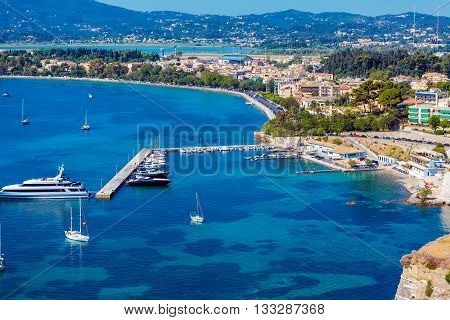 Marina With Yachts, Corfu City