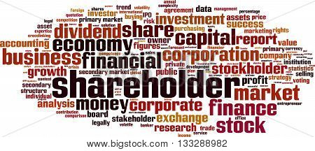 Shareholder word cloud concept. Vector illustration on white