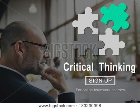 Critical Thinking Innovation Skill Smart Solution Concept