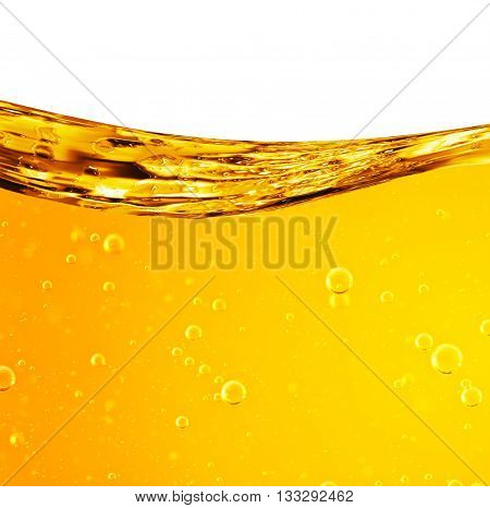 Liquid flows yellow for the project oil honey beer or other variants area for text