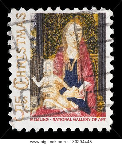 United States Used Postage Stamp Showing Religious Painting, Hans Memling