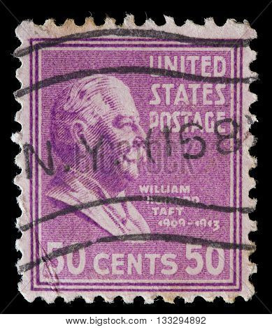 United States Used Postage Stamp Showing President William Howard Taft
