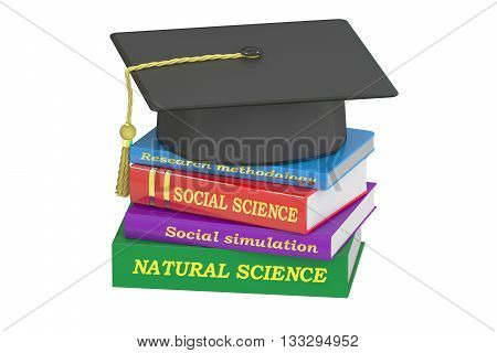 natural science education 3D rendering isolated on white background