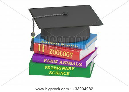 Veterinary Science Education concept 3D rendering isolated on white background