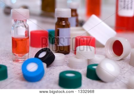 Lab Vials, Bottles And Caps