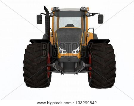 3D rendering tractor isolated on white background