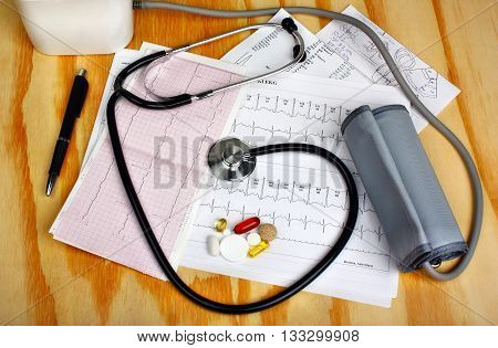 Ekg Heart Rhythm - Medicine Concept