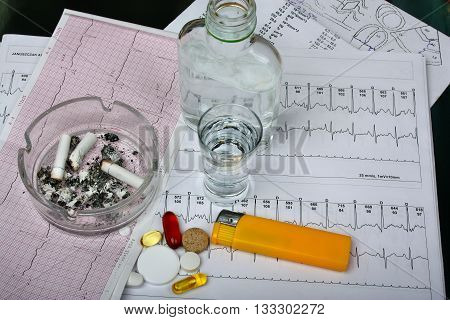 Cigarettes In The Ashtray, Vodka On The Table Medical Research