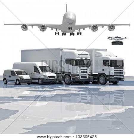 3d imageconcept of worldwide delivery