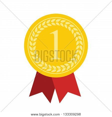 Art Flat Medal Icon for Web. Medal icon app. Medal icon best. Medal icon sign. Medal icon 1 First Place Gold.