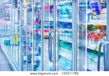 Food in a supermarket