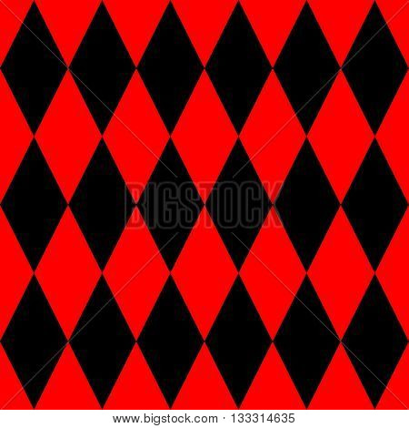 Tile black and red background vector pattern