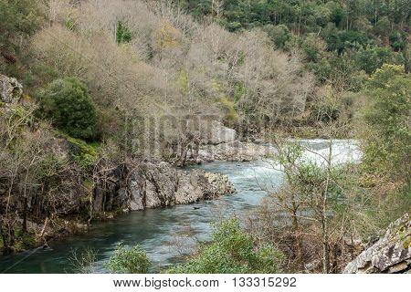 Paiva River in Arouca municipality Aveiro Portugal.