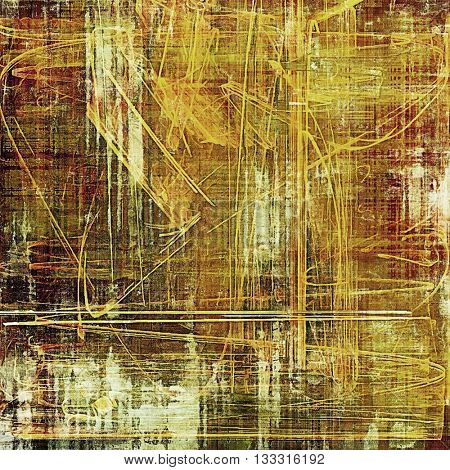 Scratched grunge background or spotted vintage texture. With different color patterns: yellow (beige); brown; green; red (orange); gray