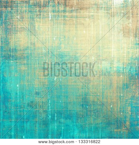 Retro style abstract background, aged graphic texture with different color patterns: yellow (beige); brown; blue; gray; cyan
