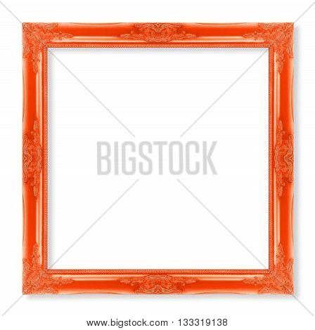 The antique frame on the white background red color