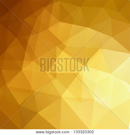 Geometric Pattern, Polygon Triangles Vector Background. Illustration Pattern. Yellow, Brown, Gold Co