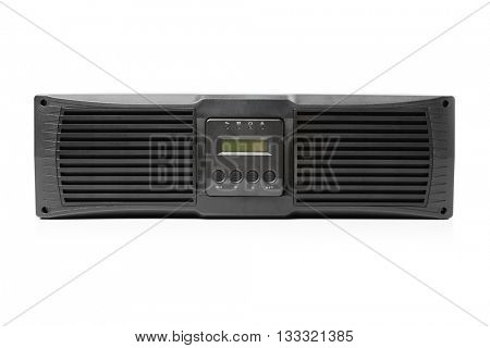 uninterruptible power supply (ups) controller, isolated on white