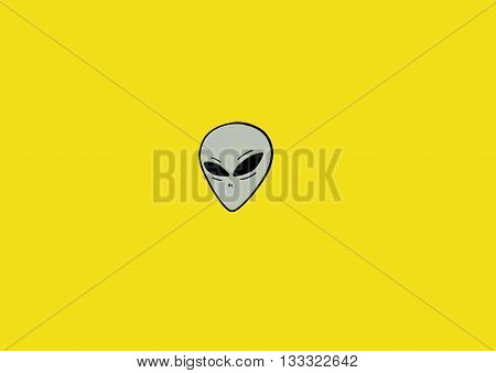 Grey head , this is a famous aliens typical
