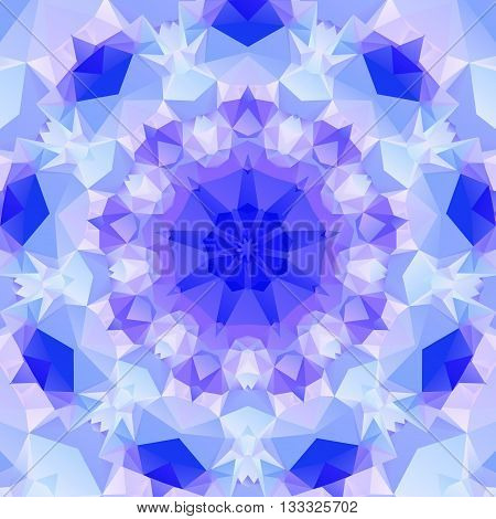 Multifaceted purple pattern of regular geometric shapes