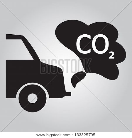 Car's exhaust smoke sign icon vector illustration
