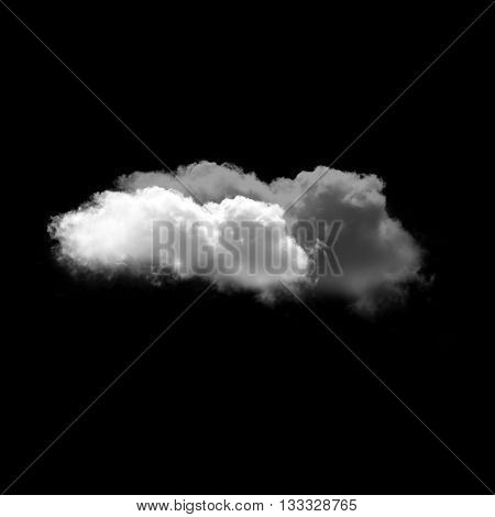 White clouds isolated over black background summer clouds illustration