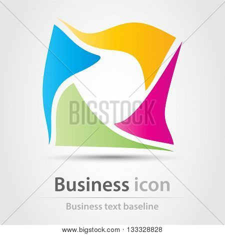 Rainbow distracted  business icon from four shapes