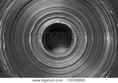close up roll of plastic sheet in factory