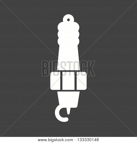 Spark, plug, engine icon vector image. Can also be used for car servicing. Suitable for use on web apps, mobile apps and print media.