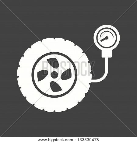 Tyre, car, pressure icon vector image. Can also be used for car servicing. Suitable for use on web apps, mobile apps and print media.