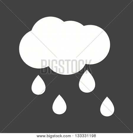 Rain, rainfall, monsoon icon vector image. Can also be used for seasons. Suitable for use on web apps, mobile apps and print media.