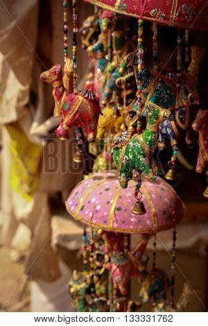 Tourist trinkets on display in Petra, Jordan
