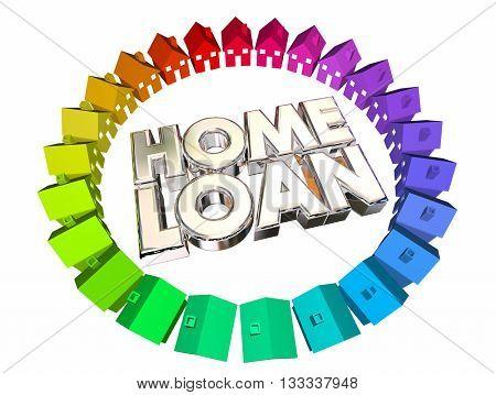 Home Loan Borrow Money Mortgage Buy House 3d Illustration