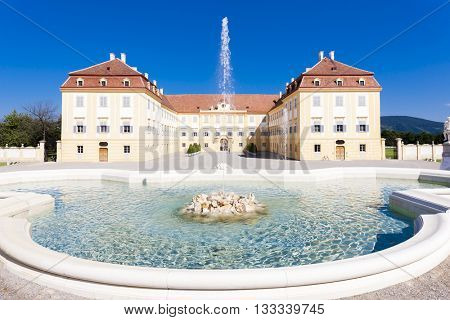 Palace Hof with a fountain, Lower Austria, Austria