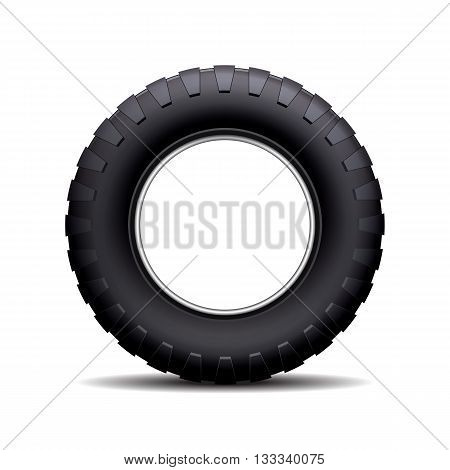 Car tire isolated on white background. Vector illustration