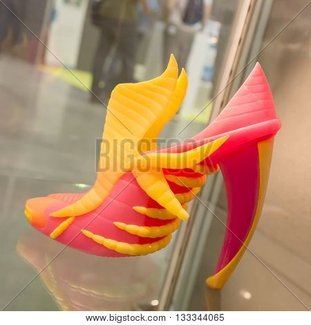 3D Printed Shoe At Technology Hub In Milan, Italy