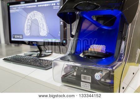 3D Scanner At Technology Hub In Milan, Italy