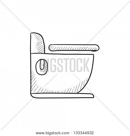 Toilet vector sketch icon isolated on background. Hand drawn Toilet icon. Toilet sketch icon for infographic, website or app.