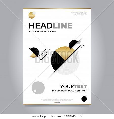Cover design concept. Annual report flyer. Brochure layout. Brochure design template. Leaflet layout. Annual report template. Business brochure. Annual report cover design. Gold brochure design. Creative brochure cover. Brochure template.