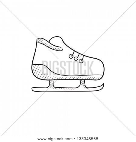 Skate vector sketch icon isolated on background. Hand drawn Skate icon. Skate sketch icon for infographic, website or app.