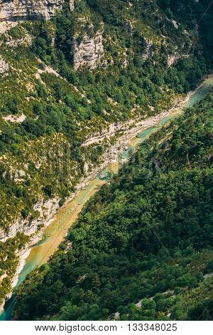 Landscape Of The Gorges Du Verdon In South-eastern France. Provence-alpes-cote D'azur.