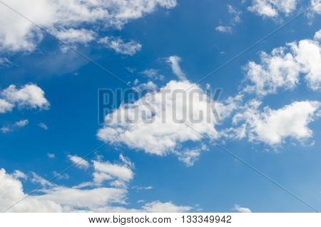 Sunny Day With White Clouds