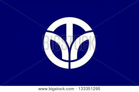 Flag of Fukui Prefecture is a prefecture of Japan located in the Chubu region on Honshu island. 3D rendering